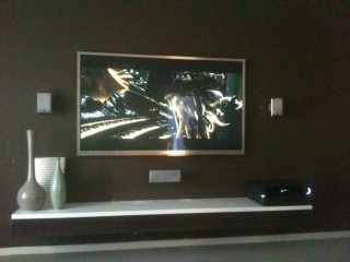 Silver Framed Wall Mounted TV unit by Jim's Antennas